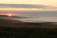 Sunrise Over Ramsley Moor (Derbyshire Harrier) Tags: sunrise september mist 2016 autumn derbyshire rspb nationaltrust peakdistrict peakpark easternmoors layers bracken moorland ramsleymoor bigmoor morning dawn trees silverbirch