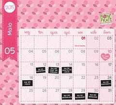 Calendário de Maio :: 2015 • BoniFrati (Ateliê Bonifrati) Tags: flowers flores cute print diy craft pap diadasmães motherday passoapasso bonifrati craftcalendar calendáriomaio
