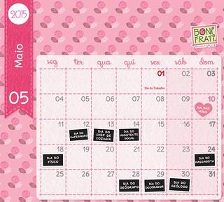 Calendário de Maio :: 2015 • BoniFrati