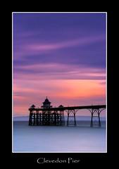 Clevedon Pier. (Julian Scott Photography) Tags: uk longexposure sunset england coast pier seaside dusk somerset clevedon clevedonpier leefilters fujis5pro bigstopper
