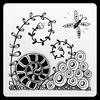 Zentangle (Ilse Lukken) Tags: blackandwhite art tile handmade zentangle wwwzentanglezooblogspotnl