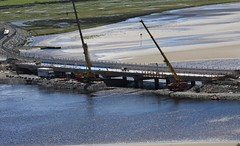Bont Briwet Penrhyndeudraeth  03/06/15 (Martin Pritchard) Tags: bridge rail cranes council network gwynedd hochtief bont penrhyndeudraeth dwyryd briwet