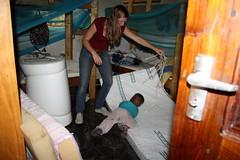 Nieuwe matrassen, Junior helpt mee