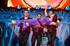 Villains Unleashed (EverythingDisney) Tags: lift dancers disney disneyworld wdw waltdisneyworld performers dhs 2014 megara disneyshollywoodstudios villainsunleashed