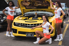 Hooters Cup Series XV - Chicago O'Hare (SauceyJack) Tags: auto portrait chicago cute girl smile face car smiling june pose reflecting illinois automobile shiny hooters posed il reflect chrome transportation vehicle carshow reflction hootersgirl 2015 hootersgirls nikond810 doublekproductions nikkor8514g sauceyjack lightroomcc hooterscupseriesxv