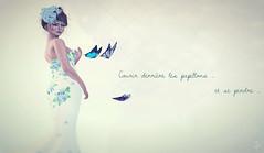 Courir après les papillons... (VeraCruza) Tags: fashion french blog flickr mesh butterflies sl secondlife headpiece slfashion fashionart flickrunitedaward slblues parisbohème bellesparisiennes