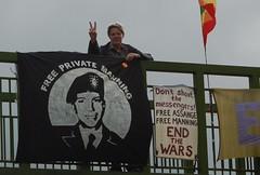 85 blair bridge (Vertigogen) Tags: manning assange freemanning freeassange endthewars wrexham july2016 iraq chilcot blairbridgeproject