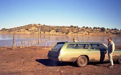 1971 - surveying a lake in AZ (bcgreeneiv) Tags: family arizona lake car station wagon stationwagon