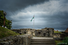 History (hunblende) Tags: hungariannationalflag stone stairs stonestairs cloudysky clouds ruins egrivr castleofeger