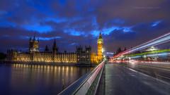 Bigben at dusk (Subhendu_Mukherjee) Tags: uk england london clock bigben westminister