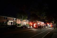 Smoky evening (Vox Sciurorum) Tags: firedepartment building smoke night watertown massachusetts zeiss distagon2128zf