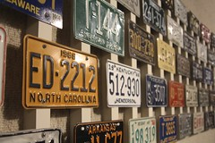 License Plates (Read2me) Tags: pree she cye car vehicle automobile old vintage retro letter numnber many rows lines colorful ge thechallengefactory