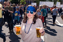Two pints for European unity (Gary Kinsman) Tags: sw1 fujix100t fujifilmx100t 2016 parliamentsquare westminster london candid streetphotography streetlife flash demonstration protest march marchforeurope eureferendum brexit the48 seen visible eyecontact eu europeanunion remain politics beer larger pints twopints shades sunglasses mirrorshades blueshades blue