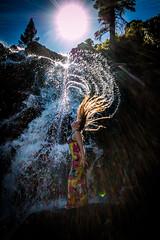 20160625-Sun Falls --11 (napaeye) Tags: lake tahoe napaeye laketahoe waterfalls fallenleaflake lillylake california ca women hairflip