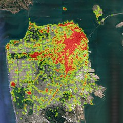 San Francisco Pokstops (morozgrafix) Tags: data pokemon visualization heatmap pokestop pokemongo
