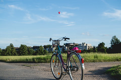 It's finally summer in Mnster! (neus_oliver) Tags: bike bicicleta bicycle balloon summer sunshine ride countryside road track exploring discover day hot