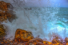 SPLASHED (Michael F. Nyiri) Tags: ranchopalosverdes palosverdespeninsulacalifornia terraneacove ocean rocks pacificocean canonflickraward