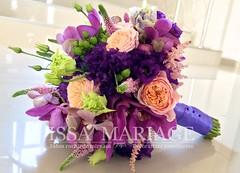 buchet de mireasa issamariage (IssaEvents) Tags: buchet mireasa tenta de mov cu tranafiri si orhidee issaevents bucuresti valcea slatina issamariage
