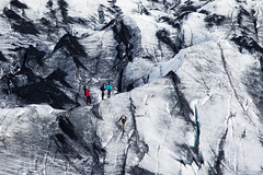 Glacier Climbers (*Hairbear) Tags: ice face iceland small large glacier climbers eyjafjallajkull