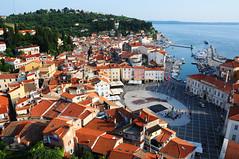 View over Tartini Square from the Bell Tower, Piran / Slovenia (anji) Tags: slovenia slovenija piran pirano adriaticsea istra istria exyu exyugoslavia southeasteurope