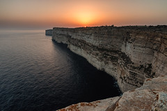 Ta' Cenc Cliffs, Gozo (glank27) Tags: sunset seascape canon landscape mediterranean malta cliffs formation rod ta efs gozo geological cence sannat f3556 70d 1585mm