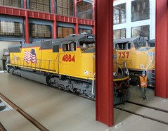 20160715_111113 (Trains By Perry) Tags: hoscale ho locomotiveshop emd sd70m flaredradiator unionpacific up 4884