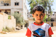 """When are you going to break the siege for us"" (Take a look on Syria without propaganda) Tags: city children child civilians childhood civil conflict syria syrian story siege street smile safe save shelling school sun humanity human hope hunger home hard help war world revolution regime rights russia rebels refugge russian blue sweet people peace poor poverty pictures life freedom free flickr outdoor building architecture road"