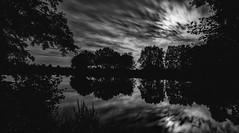 black and white at night (Florian Grundstein) Tags: naab river water mirror spiegelung mond mondlicht nacht bume nachtaufnahme langzeitbelichtung longexposure trees nature moonlight wasser fx nikon tamron 1530 vc
