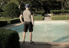 In the garden (siong.lewis) Tags: park garden pool toronto trees shrubbery fountain landmark summer