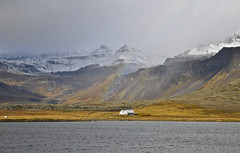 Iceland - Snæfellsnes (Adeline Kristjánsdóttir) Tags: arcenciel b‰timent ciel couleur flou lumire mer montagne paysage snaefellness bâtiment lumière