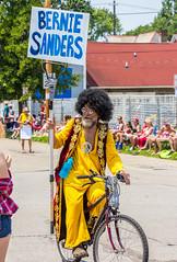 Sanders Supporter in 2015 (Eridony (Instagram: eridony_prime)) Tags: columbus franklincounty ohio victorianvillage parade doodahparade person