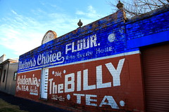 Afternoon Tea (Darren Schiller) Tags: sign wall orange tea flour motherschoice billytea old advertising heritage