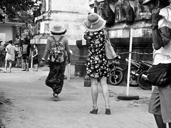 Going to their hotel . (Franc Le Blanc .) Tags: panasonic lumix bali indonesia kuta girls beach pantai exit entrance