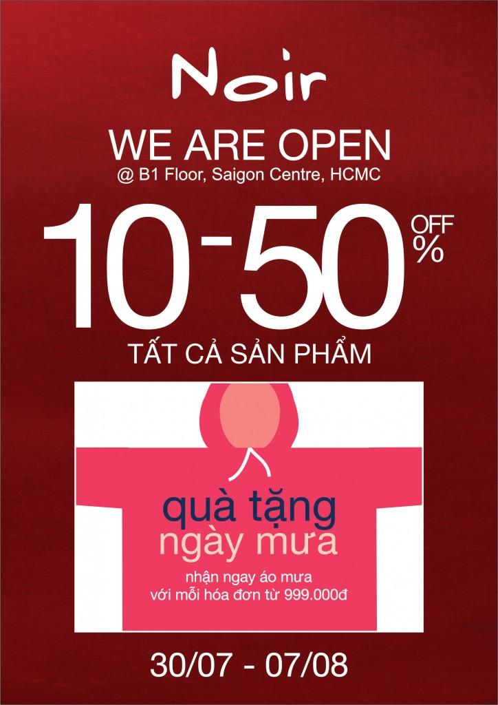Noir Tưng Bừng Khai Trương cửa hàng mới tại Tầng B1 | Saigon Centre, Q1, TPHCM