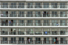 Balconies (Kev Gregory (General)) Tags: kev gregory canon 7d baltic cruise sea royal caribbean navigator of the seas europe tallinn estonia balconies board liner ms mein schiff 4 view berthing passengers watching numerous balcony vessel gentlemen forgetting his trousers no