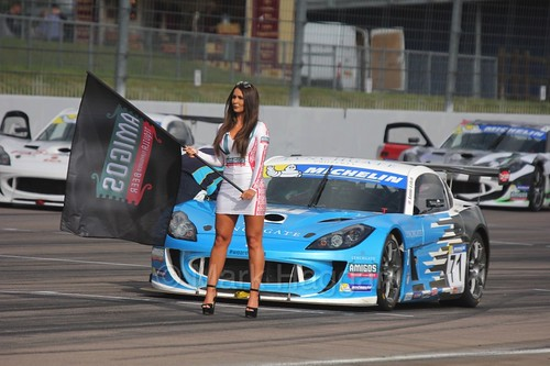 Jamie Orton in pole position on the Ginetta GT4 Supercup Grid at Rockingham, 2016