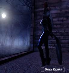 Moonshine (Mistress Marcie) Tags: latex secondlife ponygirl bondage
