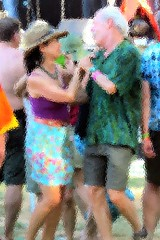 Dancing Time (moonjazz) Tags: dance party festival couples married love music partners happy mature worldfest photo photoshop shorts summer fiesta life hands holdinghands embrace romantic feelings
