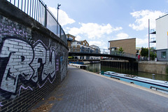 The Cut to the Thames August 2016 (2 of 42) (johnlinford) Tags: canon canonefs1022 canoneos7d docklands graffiti limehouse london uk urban landscape