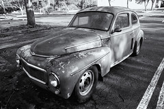 Volvo  PV544 (Burnt Umber) Tags: volvo pv544 abandoned sedan allrightsreserved antique car tail light lamp rpilla001 coupe