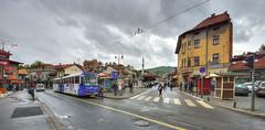 L'arrt de tram de Bascarsija (Vincent Rowell) Tags: raw tonemapped balkans2016 bosniaandherzegovina sigma816mm sarajevo bascarsija tram street