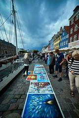 Copenaghen (Claudio IT) Tags: copenaghen danimarca denmark street quadri canale barche artista pittore acqua water boats sony sony1018mm 1018mm sonya7m2 wideangle grandangolo