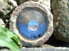 hole in the wall. (amymcginn389) Tags: beach perception sea hole pipe sun portrush