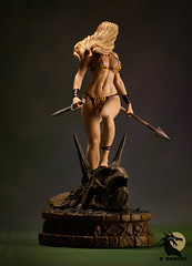 Jungle Girl 3 (Desert Dragon Visual Arts) Tags: frankcho junglegirl statue womenofdynamite