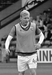 Josh Wright - Gillingham (SteveH1972) Tags: blackandwhite bw monochrome gillingham gills person people man player players joshwright football footy soccer glanfordpark lincolnshire northlincolnshire northernengland britain england uk europe sport match warmup prematch 2016 august
