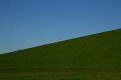Blue and Green walking down (raumoberbayern) Tags: munich robbbilder mnchen blue greenpeace blau grn buga park