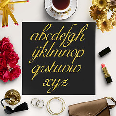 Gold Glitter Alphabet Clipart (northseastudio) Tags: clipart etsy letters planner