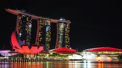 Marina Bay Sands Hotel (monique_sg) Tags: marinabay marinabaysands singapore hotel night waterfront olympus epm2 slow shutter panasonic lumix 20mm architecture panasonic20mmf17 slowshutter nightphotography