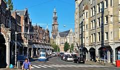 Indian Summer 15 (Peter ( phonepics only) Eijkman) Tags: amsterdam city combino tram transport trams tramtracks rail rails strassenbahn streetcars westerkerk westermarkt nederland netherlands nederlandse noordholland holland