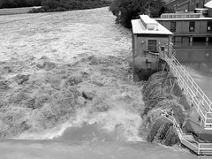 05 jun 15 2 (17) (beihouphotography) Tags: summer white black monochrome river lawrence high flooding kansas waters fujifilm x30